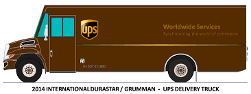 28+ Collection Of Ups Truck Drawing | High Quality, Free Cliparts ...