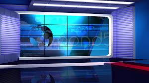 News TV Studio Set 35 Virtual Green Screen Background Loop Footage 39670453