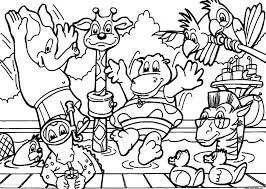 Zoo Animals Coloring Pages Page Free