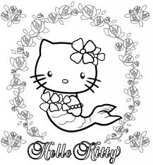 Hello Kitty Mermaid Coloring Pages 8