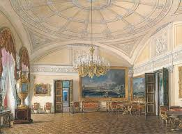 reproduction st petersburg großes wohnzimmer e p hau by eduard petrowitsch hau on aquarell