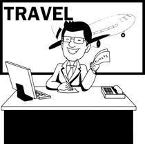 Black White Travel Agent Clipart Size 137 Kb From Occupations