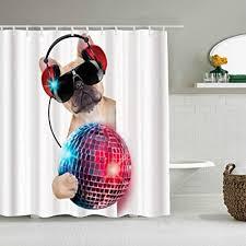 yolika duschvorhang musik dj bulldog musik hören mit einem