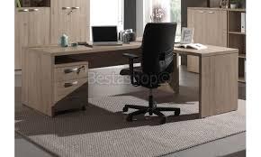 bureaux d angle pas cher bureau d angle contemporain coloris chêne leonia pas cher