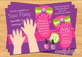 Nail Salon Birthday Party Invitations Best 25 Spa Ideas On Pinterest Kids Templates