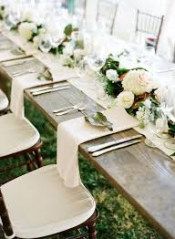 Rustic Elegance Garland Table Runner For Country Wedding Ideas