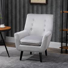 homcom sessel gepolsterter sofa aus wannenstuhl einzelsofa