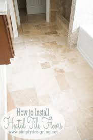 master bathroom remodel part 7 how to install radiant heated