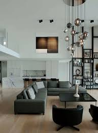 Chandelier For High Ceiling Living Room Interior Design 16