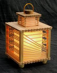Beautiful Lamp Made From Popsicle Sticks