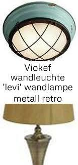 viokef wandleuchte levi wandle metall retro vintage