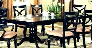 Black Dining Table Set Granite Room Sets Furniture Best