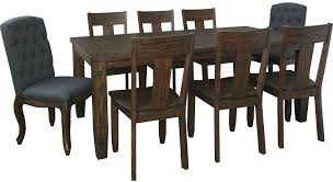 Mestler Side Chair Wayfair by Trudell Dark Brown Rectangular Extendable Dining Table From Ashley