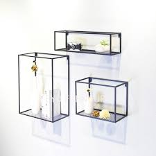 Minimalist Modern Loft Design Wall Mounted Shelf Bookshelf Flower Pot Display Rack Ledge Storage Holders Racks Metal In
