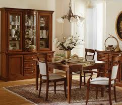 Chic Country Style Simple Dining Room Centerpieces Design With White