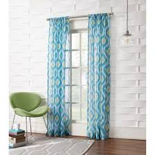no 918 winslow ikat print crushed sheer voile rod pocket curtain