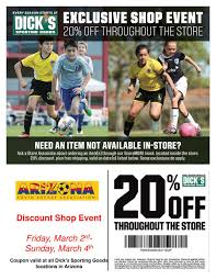 Get 20% Off At DICKS's Sporting Goods This Weekend | Arizona ... Coupons For Dickssportinggoods In Store Printable 2016 89 Additional Inperson Basesoftballteerookie Ball Officemax Coupon Codes Blog Printable Home Depot Coupons 2018 Dover Coupon Codes Beautyjoint Code November Crate And Barrel Promo Singapore Owlcrate 2019 For Hibbett Sporting Goods Tokyo Express Vitaminlife Dicks 5 Best Sporting Goods Promo Sep Raider Image Free Shipping Wwwechemistcouk Add A Fitness Tracker In The App