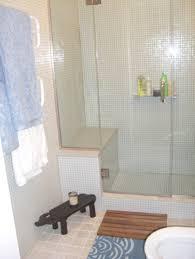 white glass mosaic tile bathroom modern with bath tile glass