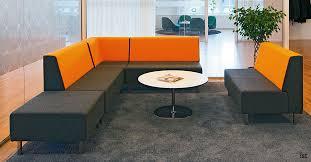 Amazing Office Sofa Furniture With Modular Orange High Back