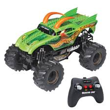 New Bright Monster Jam 1:10 Scale Remote Control Lights And Sounds ... New Bright Rc Monster Jam Truck Grave Digger Toysrus 124 Ff Twin Pack Colors And Styles Rc Trucks Youtube Radio Control 18 Scale W Buy El Toro 115 40mhz Amazoncom Sf Hauler Set Car Carrier With Two Mini Walmartcom 110 24 Ghz Grave Digger Kids Toy