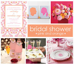 pink and orange bridal shower ideas celebrate clemson