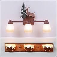 Rustic Bathroom Light Fixtures Vanity In Style Western