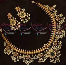 100 Pearl Design NL18146 Matte Plated Jewellery Gutta Pusalu Necklace Traditional Imitation Online