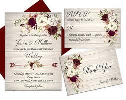 Marsala Wedding Invitation Ivory Rustic Printable Boho Burgundy Floral Country Best