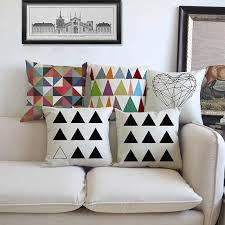 moderne geometrische kissen bunte dekorative kissen