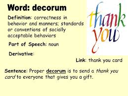 Define The Term Decorous by 100 Decorousness In A Sentence 100 Define Decorous In A