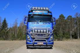 KOSKI TL, FINLAND - APRIL 27, 2014 Customized Volvo FH16 750.. Stock ...
