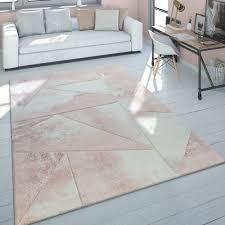 pile rug 3d pattern pale pink