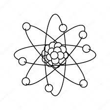 Dibujos Fisica Y Quimica Para Colorear Diseño De átomo Aislado