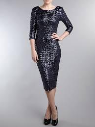 tfnc london paris drapped 34 sleeve sequin midi dress in blue lyst