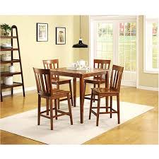 5 Piece Counter Height Dining Room Sets by Mainstays 5 Piece Counter Height Dining Set Warm Cherry Finish