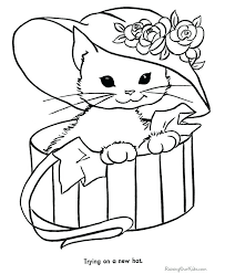 Full Image For Printable Colouring Pages Jungle Animals Cat Color Free Coloring