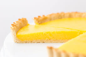 keto lemon curd tart in low carb shortbread crust