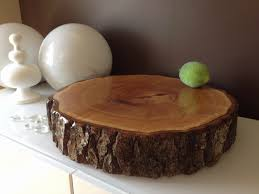Rustic Wedding Cake Stands Luxury Wood Slice Rounds Stump Stand