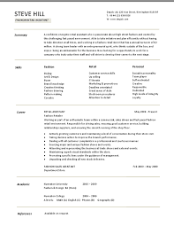 Plain Ideas Buyer Resume Sample Simple Design Fashion Examples Of Resumes Great