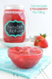Homemade Strawberry Pie Filling title