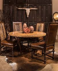 Travertine Dining Table With Iron Base Rustic Elegant Tables Upscale Western