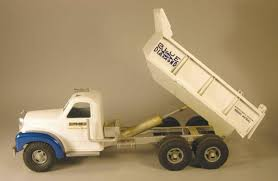 Smith-Miller Toy Truck, Blue Diamond Dump Mack Truck, White. Fred ...