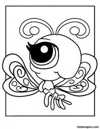 Printable Littlest Pet Shop Coloring Page Butterfly