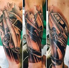 Male With Classic Muscle Car Tattoo