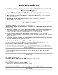 Using Mechanical Engineer Resume Pdf Template