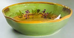 Clay Art Rustic Vines 13 Pasta Serving Bowl