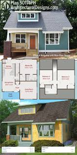 Simple Bungalow House Kits Placement by Plan 50114ph Efficient Bungalow With Floor Master Front