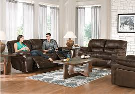 Cindy Crawford Home Alpen Ridge Brown 7 Pc Living Room with