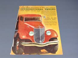 IH TRUCK AD 1930's C Series - IH Scout