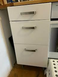 unterschrank küche ikea mit 3 schubfächern weiß